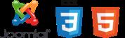 We use Joomla, CSS 3 and HTML55